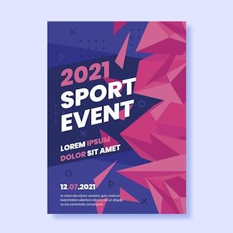 Affiche d'événement sportif 2021