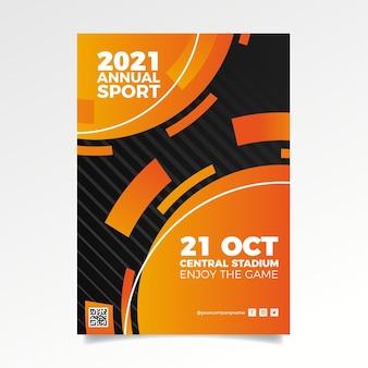 Affiche de l'événement sportif abstrait 2021