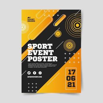Affiche d'événement sportif pour l'année 2021