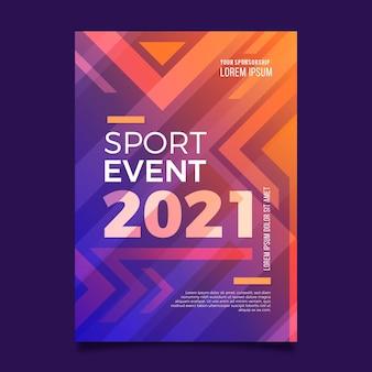 Affiche d'événement sportif pour le thème 2021