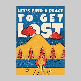 L'affiche extérieure permet de trouver un endroit pour se perdre vintage
