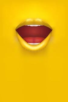 Affiche de femme de publicité