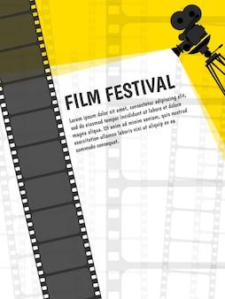 Affiche de festival de cinéma ou modèle de flyer pour votre conception.