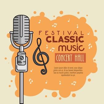 Affiche festival musique classique icône