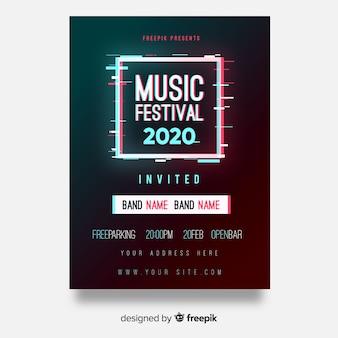 Affiche de festival de musique square