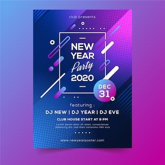 Affiche de fête abstraite vacances d'hiver nouvel an 2020