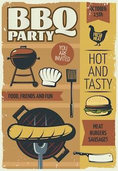 Affiche de fête barbecue