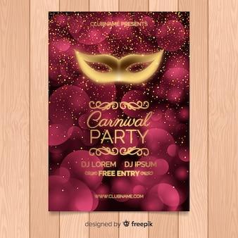 Affiche de fête de carnaval tempalte