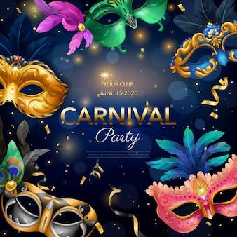 Affiche de fête de carnaval
