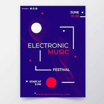 Affiche de fête de conception abstraite