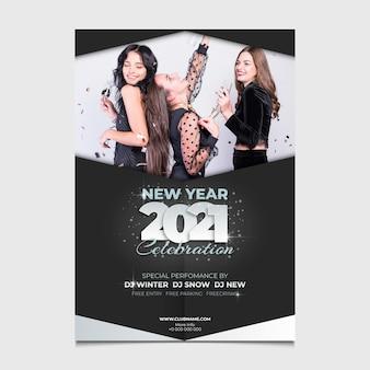 Affiche de la fête du nouvel an 2021