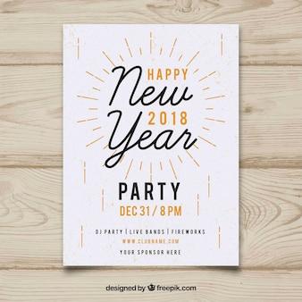 Affiche de fête du nouvel an minimaliste