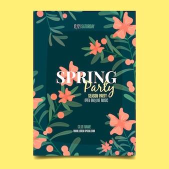 Affiche de la fête du printemps