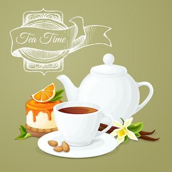 Affiche de fête du thé
