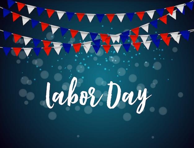 Affiche de la fête du travail aux etats-unis