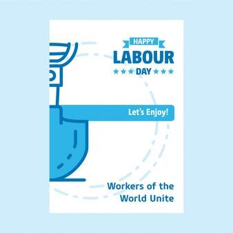 Affiche de la fête du travail
