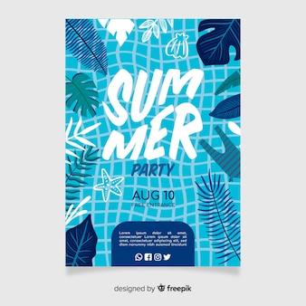 Affiche de fête de l'été ou modèle de flyer prêt à imprimer