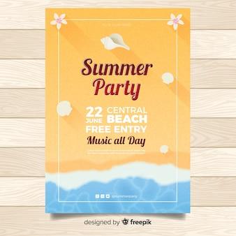 Affiche de la fête d'été réaliste