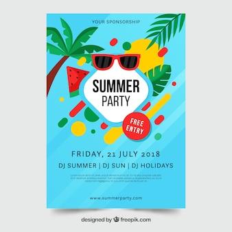 Affiche de fête d'été