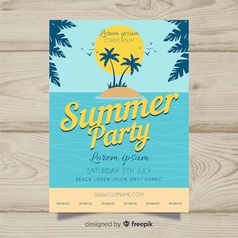 Affiche de la fête de l'été