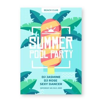 Affiche fête d'été