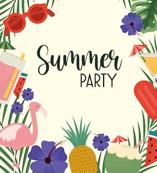 Affiche de la fête d'été