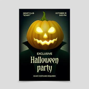 Affiche de fête d'halloween réaliste