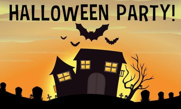 Affiche de la fête d'halloween