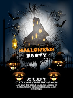 Affiche fête halloween