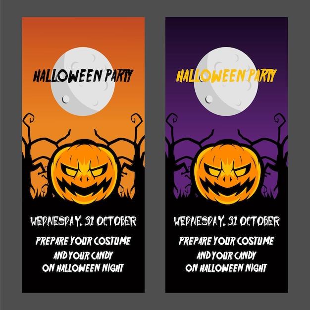 Affiche fête d'halloween