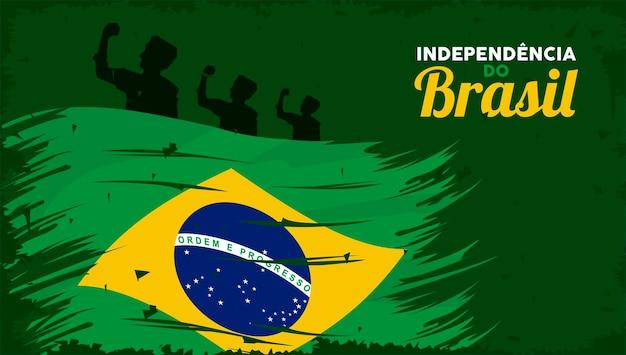 Affiche de la fête de l'indépendance du brésil