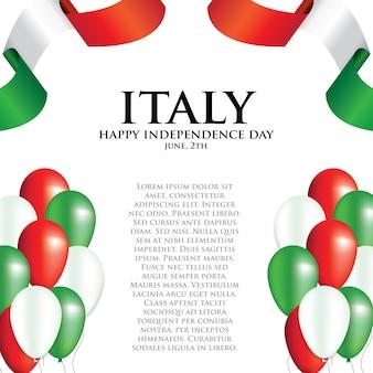 Affiche de la fête nationale de l'italie