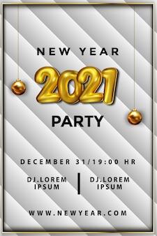 Affiche de fête de nouvel an de luxe