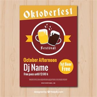 Affiche de fête d'oktoberfest avec style vintage