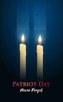 Affiche de la fête des patriotes avec des bougies
