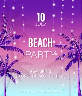 Affiche fête à la plage