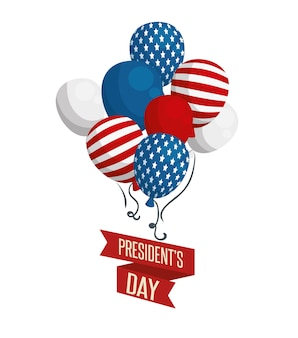 Affiche de la fête des présidents heureux