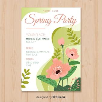 Affiche de la fête printanière florale