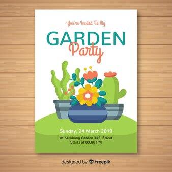 Affiche de la fête de printemps des pots de fleurs