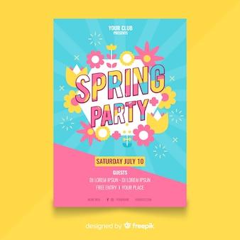 Affiche de la fête de printemps sunburst