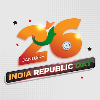 Affiche de la fête de la république de l'inde