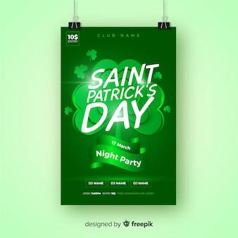 Affiche de la fête de la saint patrick