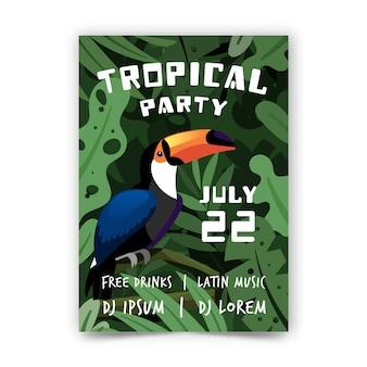 Affiche fête tropicale