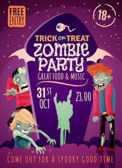 Affiche fête zombie