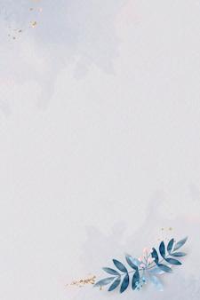 Affiche à feuilles bleues vierge