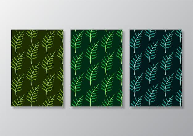 L'affiche de feuilles tropicales abstraites couvre le fond