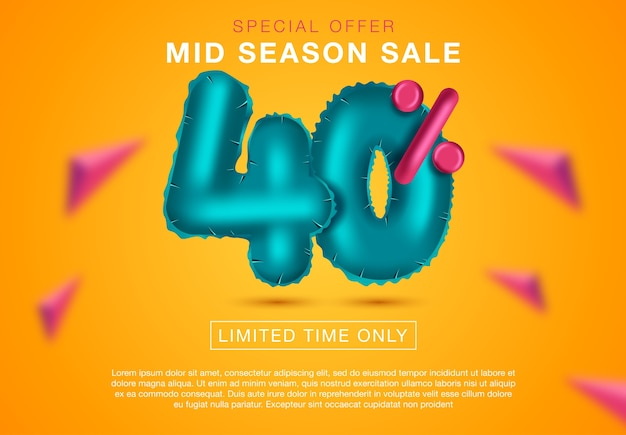 Affiche finale de vente ou conception de flyer