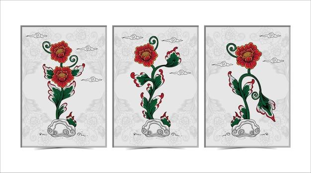 Affiche de fleur balinaise