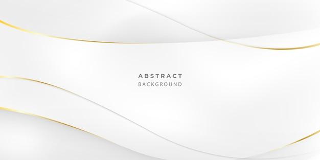 Affiche de fond abstrait gris et or avec des vagues dynamiques. illustration de réseau de technologie.