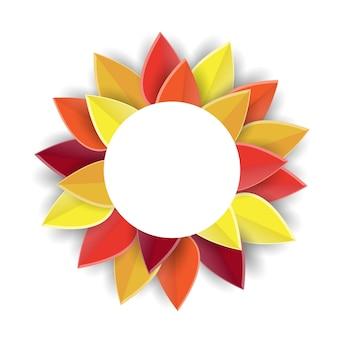 Affiche de fond d'automne fond de papier découpé pour le logo ou l'insigne d'icône de thanksgiving de carte postale